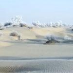Il deserto ghiacciato del Taklamakan