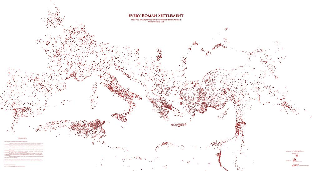 mappa roma mondo